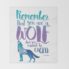 Remember that you are a wolf. And you cannot be caged. ― A Court of Wings and Ruin Throw Blanket