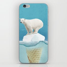 Polar ice cream cap iPhone Skin