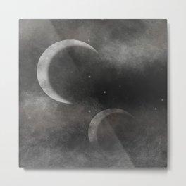 Two Moons Metal Print