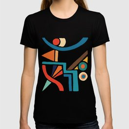 retro shapes T-shirt