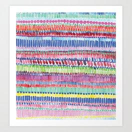 "Rainbow ""Light-Brite"" Art Print"