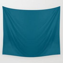 Splendid Serentiy Aquamarine Blue Green Solid Color Pairs To Sherwin Williams Bosporus SW 6503 Wall Tapestry