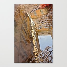 Roman Cobblestone Puddle - Reflections of Italy Canvas Print