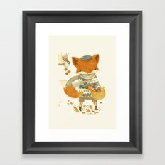 Fritz the Fruit-Foraging Fox Framed Art Print