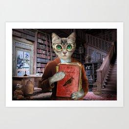 Dr. Felis Catus Art Print