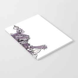 Anarchy Skeleton - Amethyst Smoke Notebook