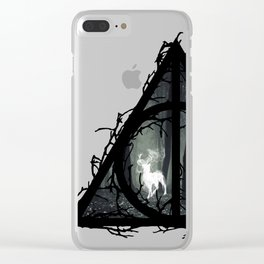 Deathly Hallows - Prongs in the forest with brenches | Marauders - Potterhead - Patronus Clear iPhone Case