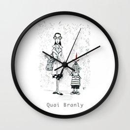 A Few Parisians by David Cessac: Quai Branly Wall Clock