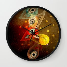 Lighting Birds Whimsical Art Wall Clock