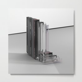 Lenses Letter L Metal Print