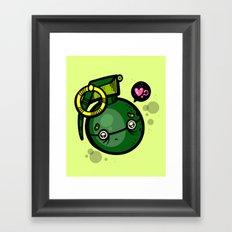 No Love For Grenade? Framed Art Print
