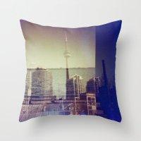 toronto Throw Pillows featuring Toronto by Jordan Osbourne