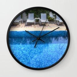 Summer Swimming Pool Wall Clock