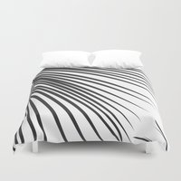 palm Duvet Covers featuring Palm by The Old Art Studio