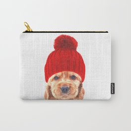 Cocker spaniel puppy with hat Carry-All Pouch