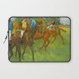 Before the Race - By Edgar Degas Laptop Sleeve