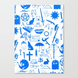 Buffy Symbology, Blue Canvas Print