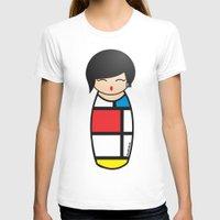 mondrian T-shirts featuring Kokeshi Mondrian by Pendientera