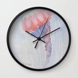 Pink & Blue Jellyfish Wall Clock