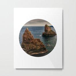 Rocky sea circle photo Metal Print