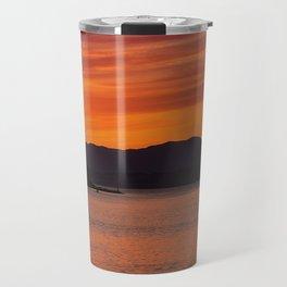 Sundown over Oban Bay Travel Mug