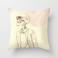 gentleman Throw Pillows featuring Gentleman by Mike Koubou