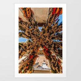Montisola flower festival on island of Montisola Art Print