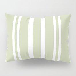 Plain Seafoam Green and White Stripes Design Pillow Sham