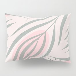 Pastel pink abstract leaf pattern Pillow Sham