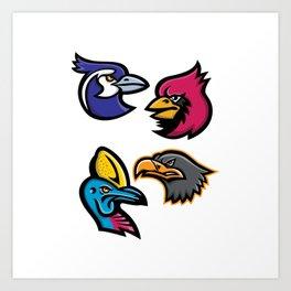 Bird Wildlife Mascot Collection Art Print