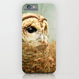 Barred Owl in Foggy Forest iPhone Case