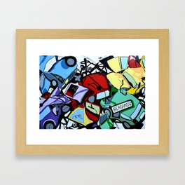 On the road #1 Framed Art Print