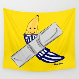 banana in ducttape pijama ecopop Wall Tapestry