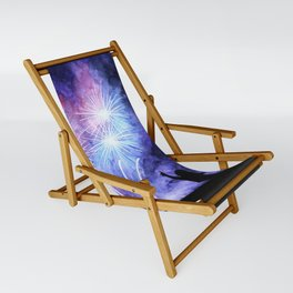 Blue and pink fireworks Sling Chair