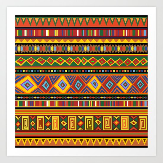 Ethnic Colorful Pattern Africa Art Art Print