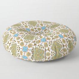 Venetian Blue and Gold Pattern Floor Pillow