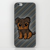 caleb troy iPhone & iPod Skins featuring Troy - Silky Terrier by Sylvester Pyke