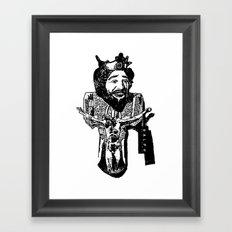 One Nation Under Burger King Framed Art Print