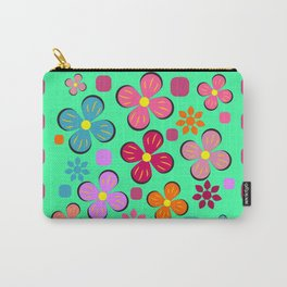 Funny flowers Carry-All Pouch