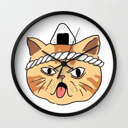 Onigiri Master Cat Wall Clock