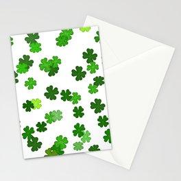 Shamrocks Falling - Pattern for Saint Patricks Day Stationery Cards