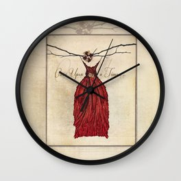 Once Upon a Time Fairie Dress Wall Clock