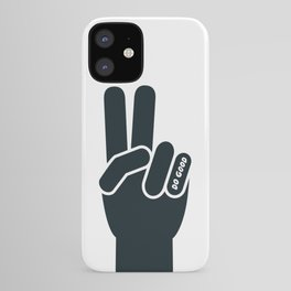 Peace Sign, Do Good B&W iPhone Case