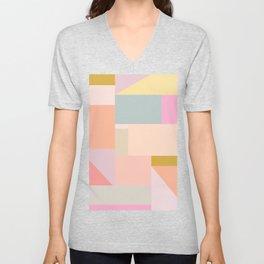 Pastel Geometric Graphic Design Unisex V-Neck