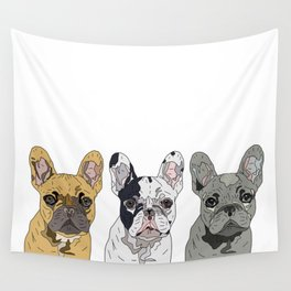 Triple Frenchies Wall Tapestry