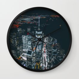 New York City Skyline One World Trade Center Wall Clock