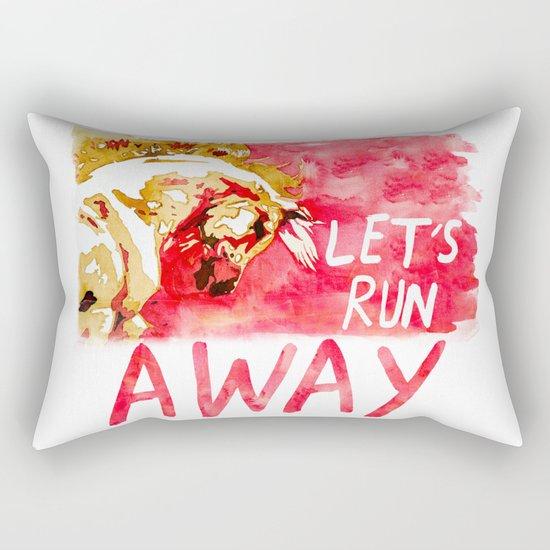 Let's Run Away Horse Rectangular Pillow