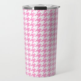 Rose Quartz Houndstooth Travel Mug