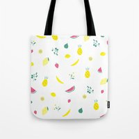 fruits Tote Bags featuring Fruits by haroulita