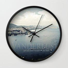 Wanderlust {Rio Wall Clock